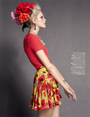 Vogue Portugal Editorial.: Dani Seitz, Candies Colors, Eye Makeup, Poppies Red, Vogue Portugal, Benjamin Kanarek, Shades Of Red, April 2012, Candies Colours