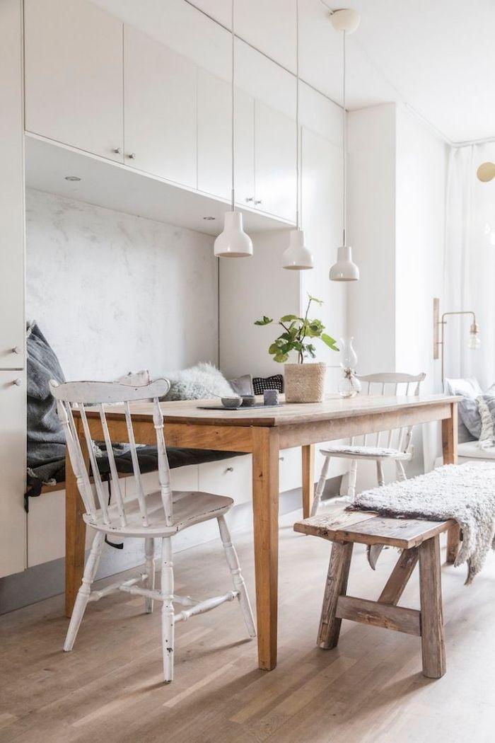 Design Scandinave Decoration De La Cuisine Ouverte Vers La Salle