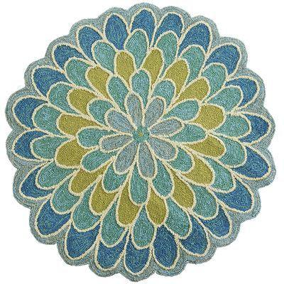 Calliope Mum Round Rug – Blue