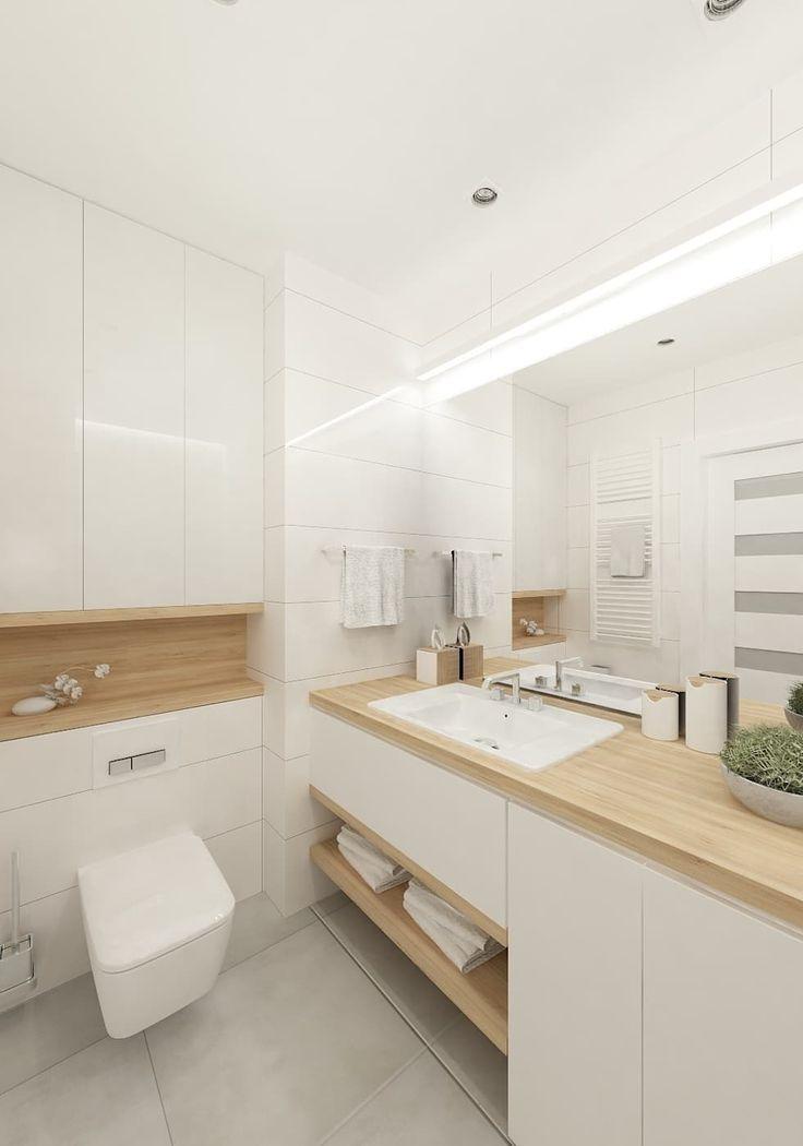 Skandynawskie biele i szarości.: styl , w kategorii Łazienka zaprojektowany przez 4ma projekt
