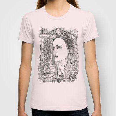 vampire Pam T-shirt by Francesco Carli - $22.00