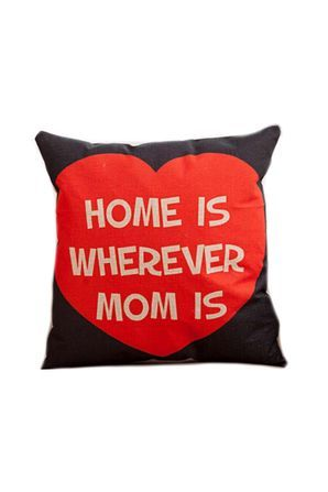 ZAKKA Style Cushion Cover - Home Is Wherever Mom Is