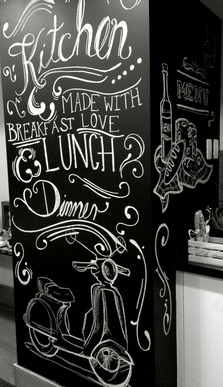chalkboard design in kitchen. Modern ideas  PIZARRON DISEÑO EN COCINA moderno diseño   http://denesquenazi.wix.com/masarquitectura