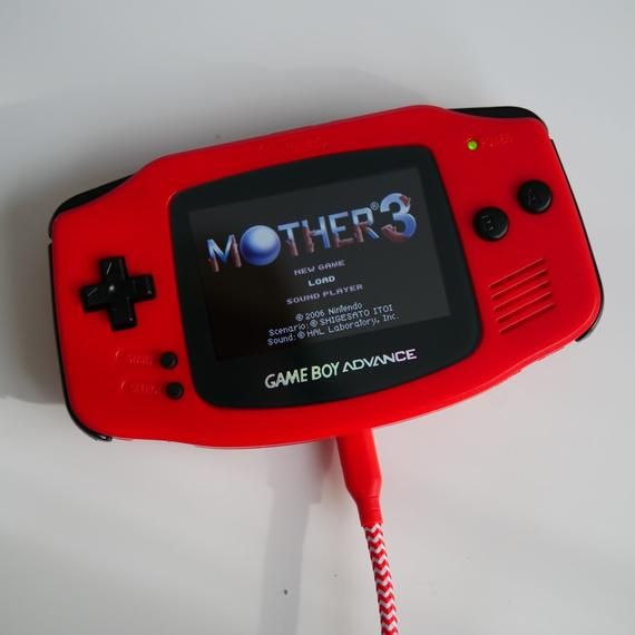 Mother 3 Custom Gba Backlit Rechargeable Mod Gameboy Advance Etsy Gameboy Gba Nintendo Systems