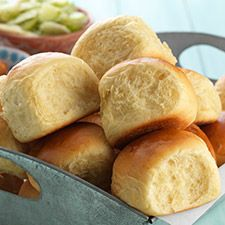 These pillowy soft dinner rolls are lightly, irresistibly sweet thanks to pineapple juice and brown sugar. The pineapple flavor is subtle, but it'll have you going back for bite after bite. Sweet dough rises slower than those without sugar, and these are no exception. Power through the long rises though, these addicting buns are so worth it. Hawaiian Buns: King Arthur Flour
