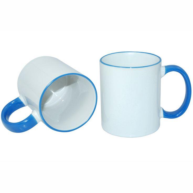 11oz Rim Handle Mug-Light Blue