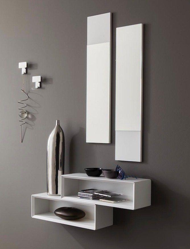 Specchio Per Ingresso Moderno.Dettagli Su 1 Mobile Da Ingresso Moderno Lego Consolle