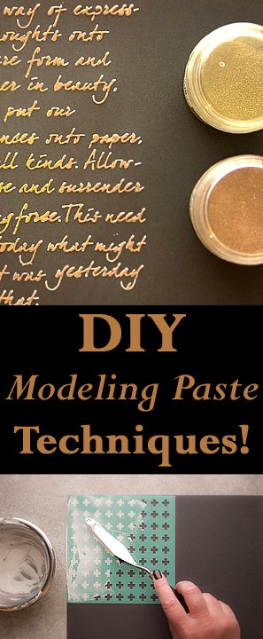 DIY Modeling Paste Techniques with Heather K Tracy for The Graphics Fairy! Great techniques for Mixed Media Art and Crafts!