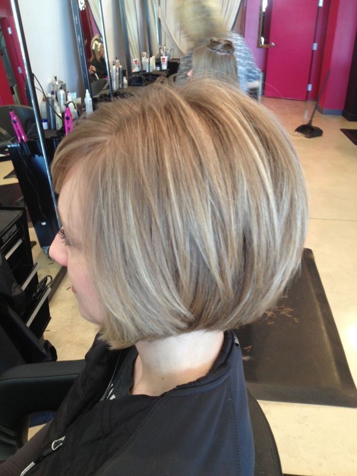 Growing Out Stacked Bob Womens Hairstyles Angled Bob
