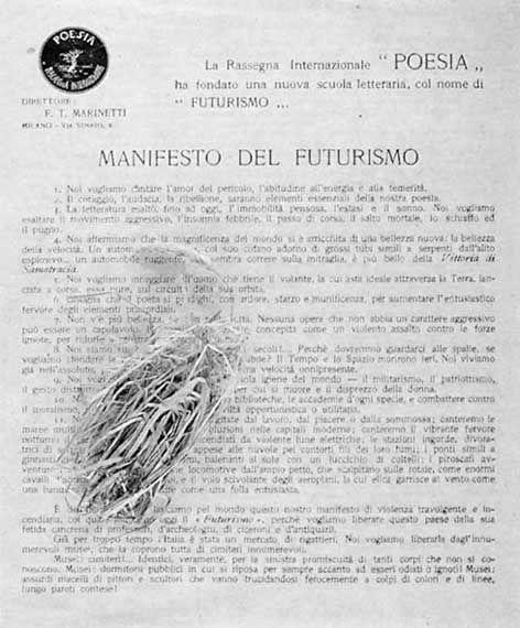 #manifesto #futurismo #marinetti #volantino