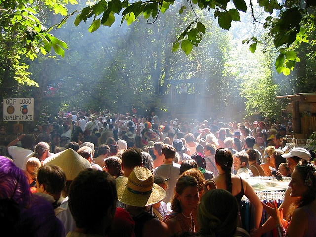 A hippy festival!!  Come as you are to the Oregon Country Fair in Veneta, OR (right outside Eugene) ✌❤