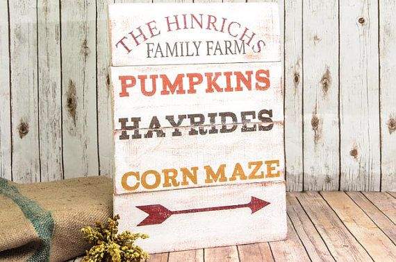 Fall Pallet Sign  Fall Signs  Fall Pallet Signs  by DesignedSigns