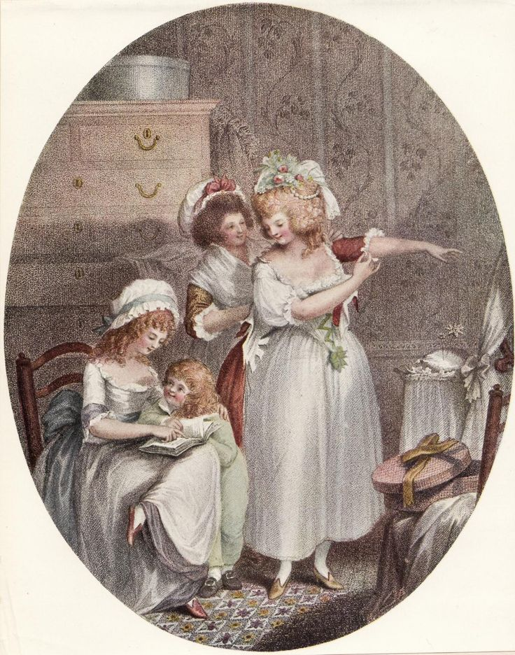 The English Dressing Room    Stipple engraving by P. W. Tomkins after Chas. Ansell published 1789