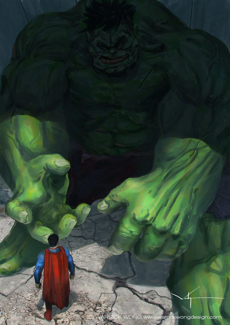 Superman VS The Hulk by waLek05 on DeviantArt