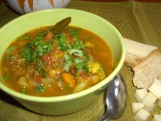 Soupe indienne aux lentilles