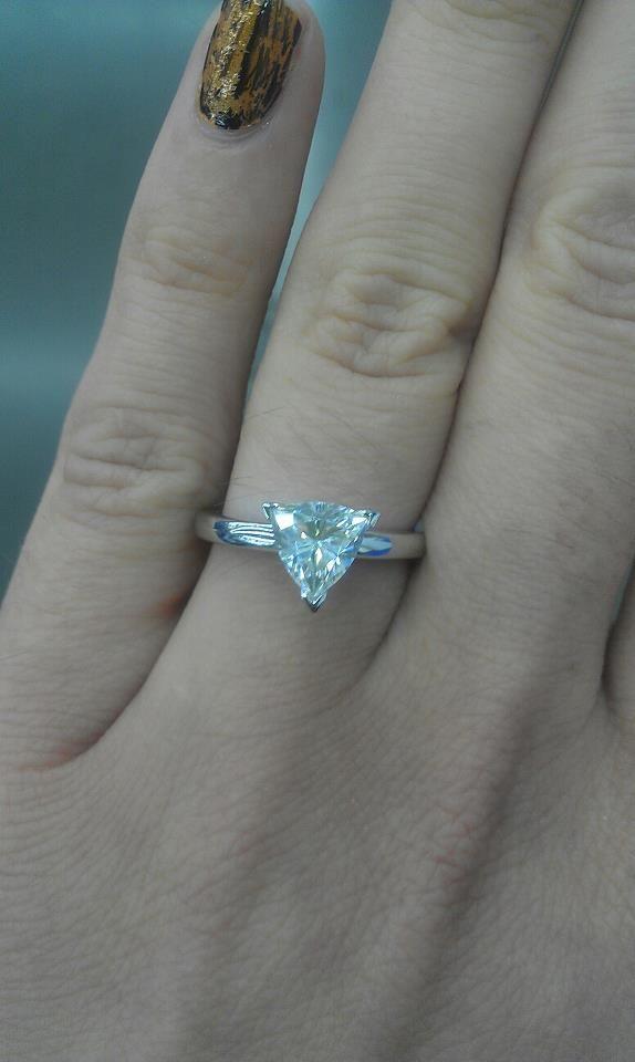 My Trillion Cut Engagement Ring!!! <3