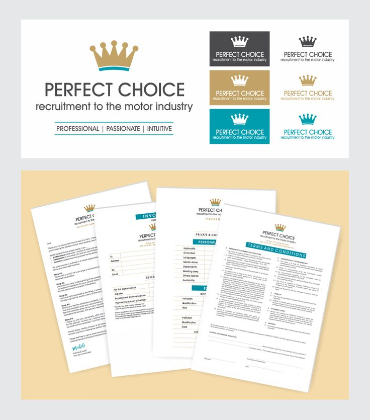 Cosmic Creations Freelance Design Lab: Perfect Choice branding