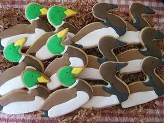 Mallard Duck Cookies.