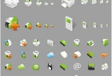 SHINY REALISTIC ICON SET IN DIFFERENT FORMATS