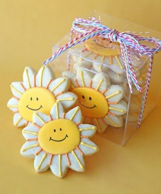 cute packaging, cute cookies to brighten someone's day