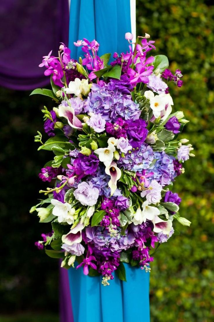 Altadena Town & Country Club Wedding by Jason Q. Tran. Purple Wedding  BouquetsWedding FlowersMagenta ...