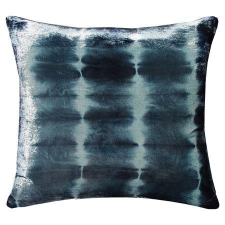 Indigo Rorschach Pillow