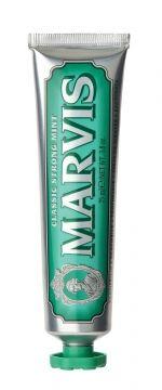 MARVIS Classic Strong Mint – pasta do zębów bez fluoru, klasyczna mięta, 75 ml | Profimed.com - Profesjonalna pielęgnacja zębów i ciała