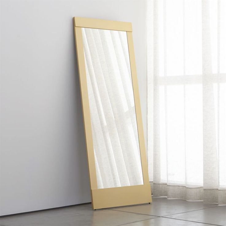Colby Soft Gold Floor Mirror. Wall Mounted MirrorDoor ...