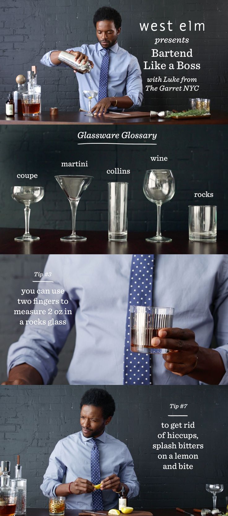 Learn the bartending basics and a couple of pro tips, too. | @westelm