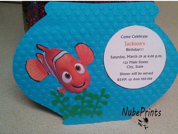19 best FINDING NEMO BIRTHDAY PARTY images on Pinterest
