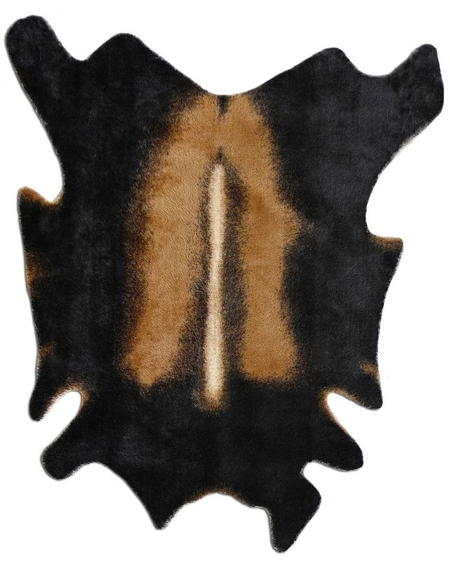 Feizy Rugs Faux Hide Grand Canyon Collection Black Spice Loloi Rugs