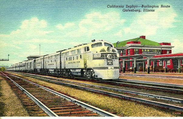 California Zephyr at Galesburg, Illinois