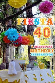 40th Birthday Party Decorating Ideas