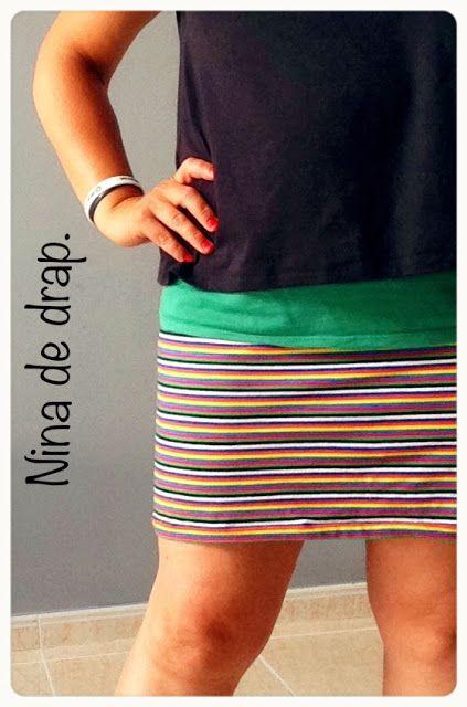 Nina de drap: Rums #27/16: Minifalda de rayas y camiseta raglan ...