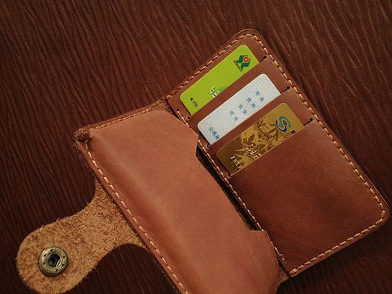 For iPhone 5 Leather Wallet Book Case HandStitched by BunnysGoods