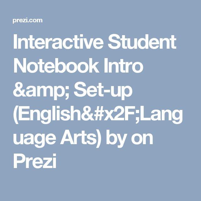 Interactive Student Notebook Intro & Set-up (English/Language Arts) by  on Prezi