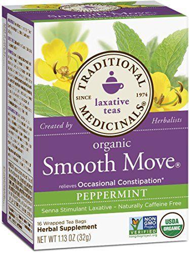 Traditional Medicinals Organic Smooth Move Peppermint Tea, 16 Tea Bags - http://goodvibeorganics.com/traditional-medicinals-organic-smooth-move-peppermint-tea-16-tea-bags/