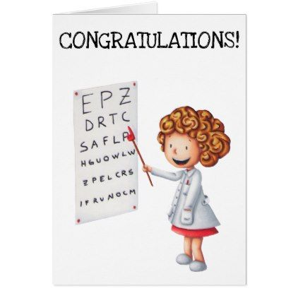 Congratulations graduation card for eye doctors - graduation gifts giftideas idea party celebration