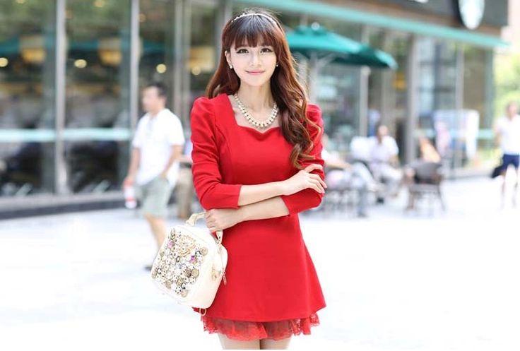 Gaun Mini Dress Elegan Lace Model Terbaru Cantik  Murah