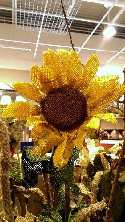 Burlap Flower Girl Basket Hobby Lobby : Love this burlap sunflower napraforg?