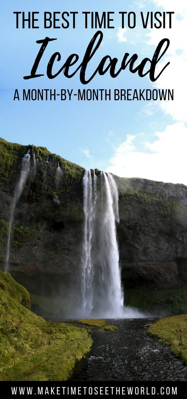 When is the Best Time To Visit #Iceland? On season or off season? Summer or Winter? Let us give you a run down of the pro's and con's of visiting Iceland for every month of the year to help you plan the perfect trip. **Iceland Travel | Iceland Reykjavik | Iceland Blue Lagoon | Iceland Budget | Iceland Itinerary | Iceland Summer | Iceland Winter | Iceland Spring
