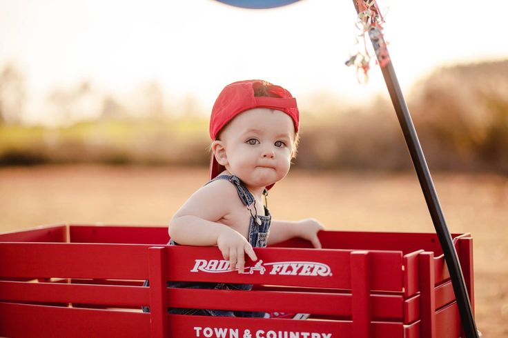 1st Birthday Little Red Wagon-Photo by Tickled Peach Photography