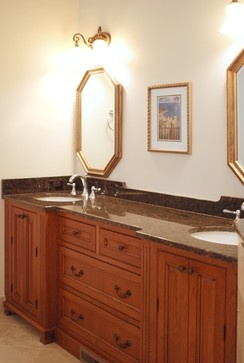 Pic On Master bathroom vanity designed by Cranbury Design Center LLC