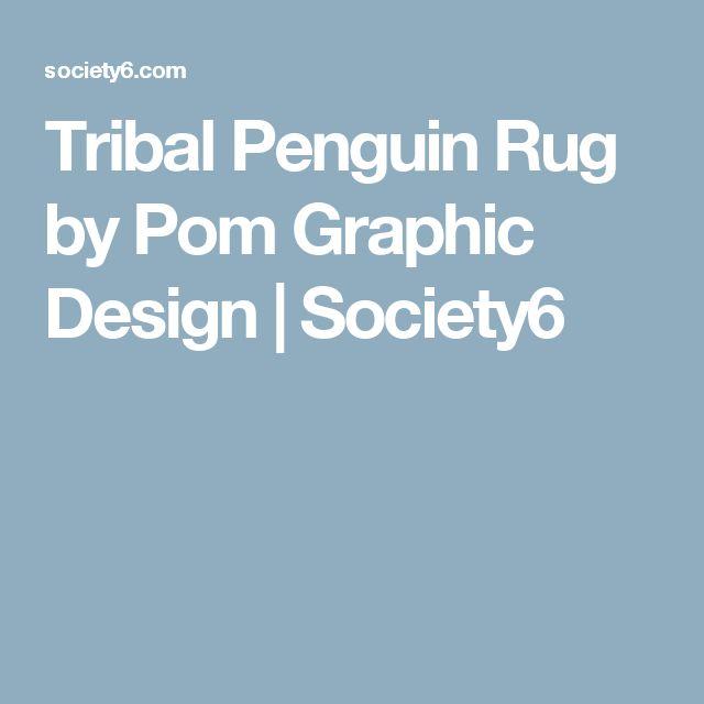 Tribal Penguin Rug by Pom Graphic Design | Society6