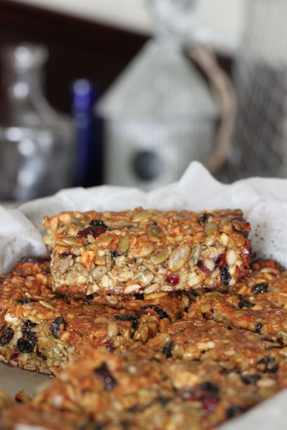 Thermomix honey trail bars. I'd use golden syrup instead..