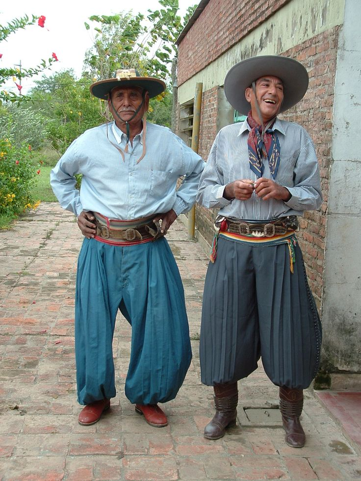 Gauchos from the North of Argentina. With Graham Greene in Travels with my Aunt.