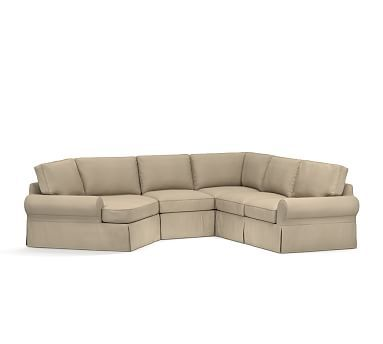 1000 ideas about sectional slipcover on pinterest for Box edge chaise cushion