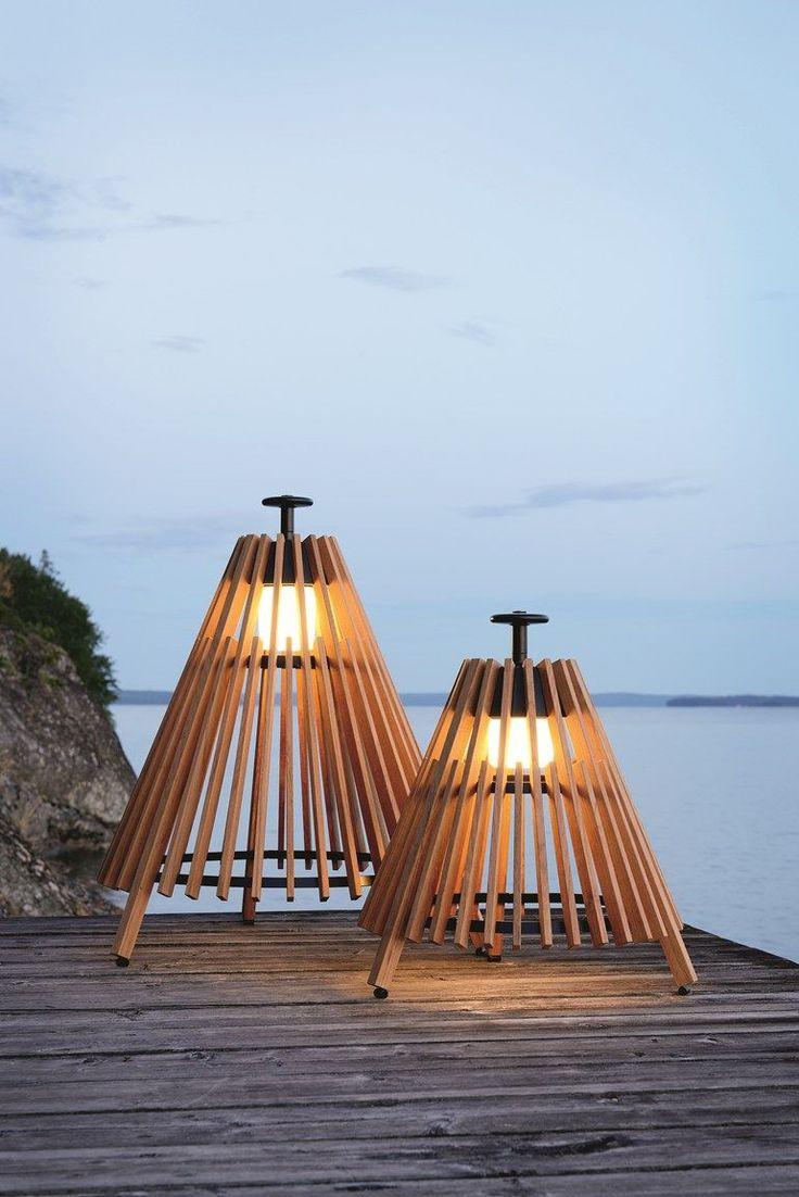 Teak Floor lamp TIPI by Skargaarden | design Mårten Cyrén, Gustav Cyrén @skargaarden