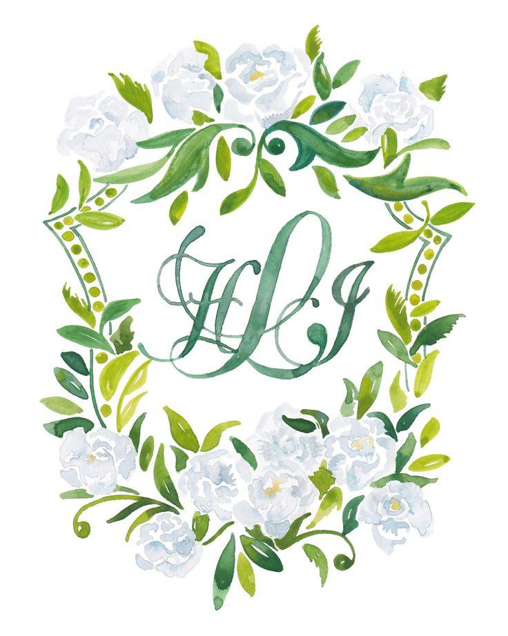 Kearsley Lloyd - Graphic Designer - Crests and Heraldry Wedding Monogram