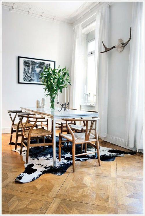 Best 25 Cowhide Rug Kitchen Ideas On Pinterest  Mid Century Impressive Rug Under Kitchen Table Decorating Design